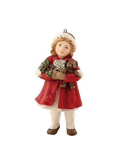 Bethany Lowe A Child's Christmas Merry-Ann Girl Teddy Bear Ornament