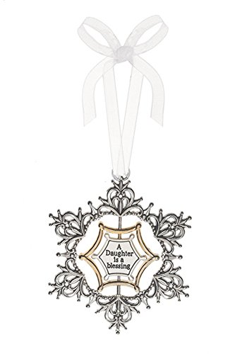 A Daughter is a Blessing 3D Swirling Snowflake Sentiment Ornament