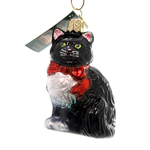 Old World Christmas Tuxedo Kitty Glass Blown Ornament