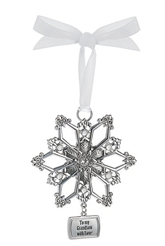 Ganz Snowflake Ornament – To my Grandson with Love