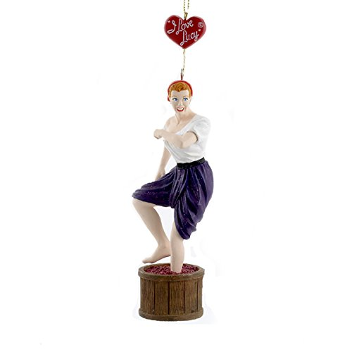 """5″ """"I LOVE LUCY"""" STOMPING WINE GRAPES ORNAMENT by Kurt Adler"""