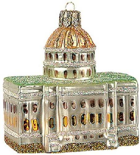 US Capitol Building Polish Glass Christmas Ornament Washington DC Decoration