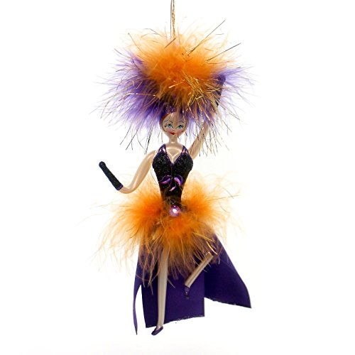 De Carlini MISS HALLOWEEN Blown Glass Ornament Halloween IT08044