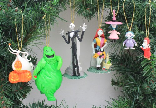 Disney's The Nightmare Before Christmas 7 Piece Ornament Set – (7) PVC Ornaments Included – Limited Availability