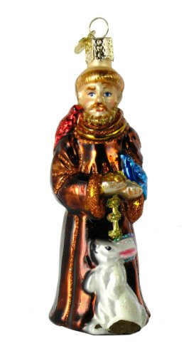 Old World Christmas St. Francis Glass Blown Ornament