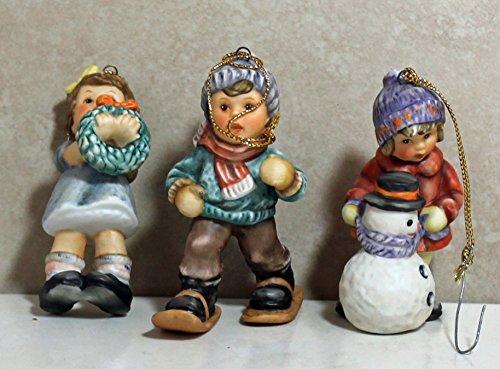 Studio Berta Hummel 96036 Set #6, 3 Ornaments (Walking/Wreath/Snowman)