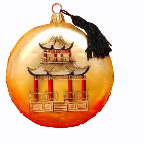 Ornaments to Remember: CHINOISERIE Christmas Ornament (Pagoda)