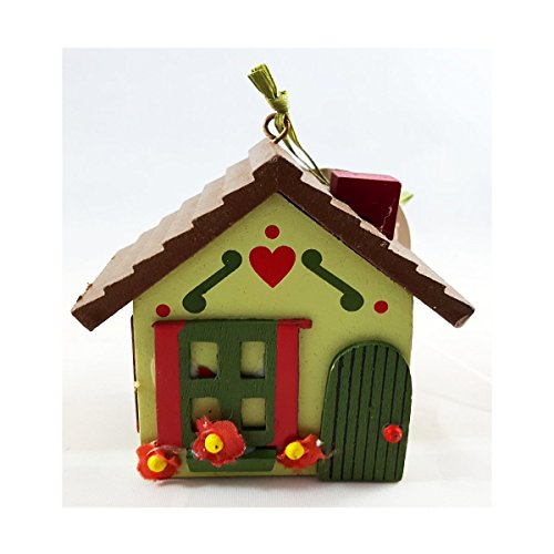 Martha Stewart Woodland Holiday Cottage Novelty Ornament Green