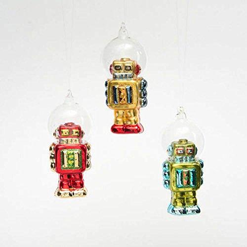 One Hundred 80 Degrees Robot Dome Helmet Ornaments (Set/3)