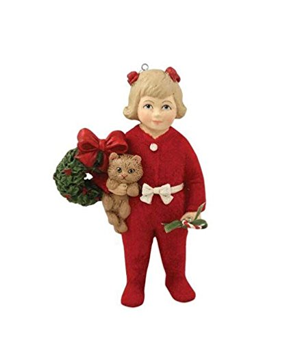 Bethany Lowe A Child's Christmas Little Girl Ann with Kitten Ornament