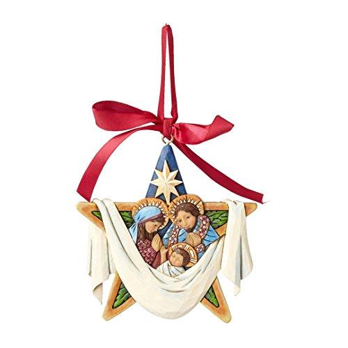 Jim Shore The Legends of Christmas Holy Family Star Ornament 4055052 HWC New