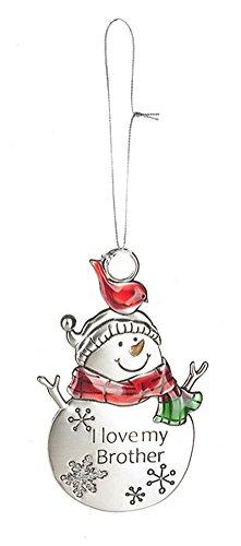 GANZ Snow Pals Ornament – I Love My Brother – Ornament Christmas Sentimental Gift EX26751