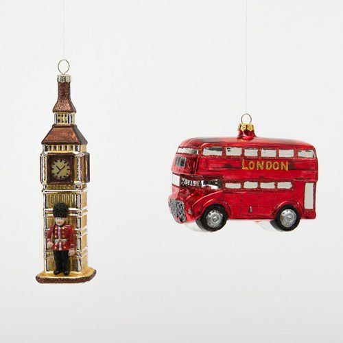 London Double Decker and Big Ben by One Hundred 80 Degrees (Set of 2)