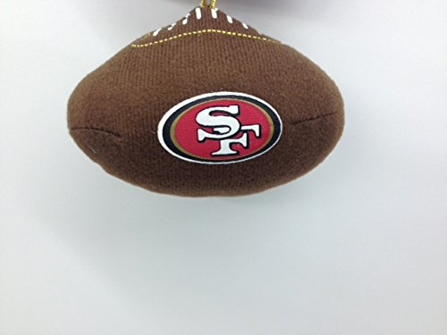 NFL San Francisco 49er's Plush Football Ornament – 4″ x 2.5″