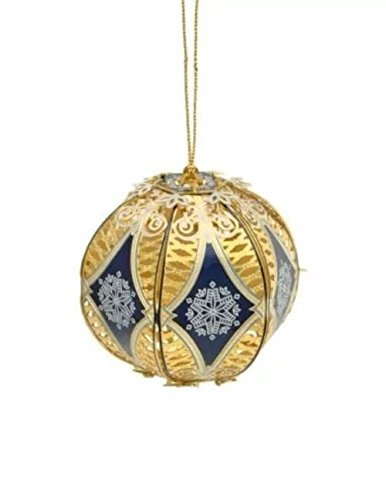 ChemArt 3D Filigree Ball Ornament ;PMN#4534TG48 3464YHRE24707
