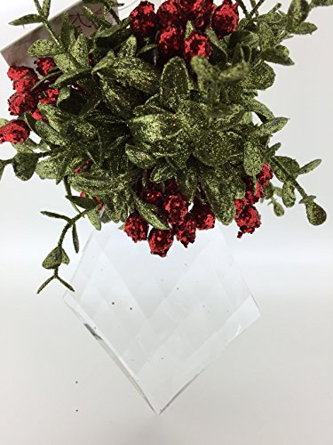 Ganz Mistletoe Krystal Ornament – Marquis – Classic Red
