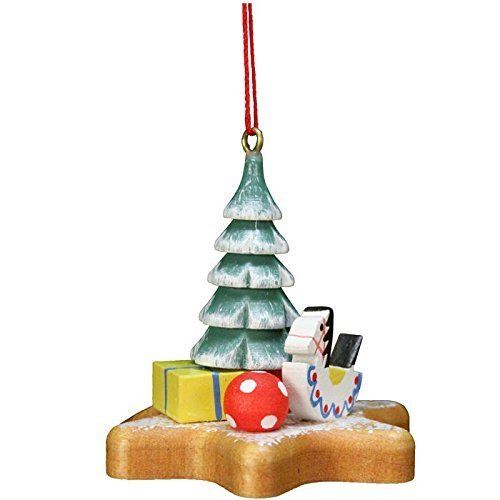 "10-0562 – Christian Ulbricht Ornament – Xmas Tree on Star – 2″""H x 2″""W x 2″""D by Christian Ulbricht"