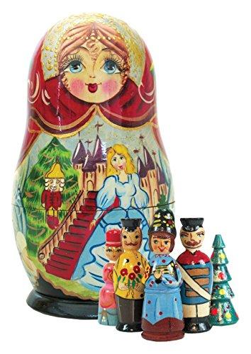 G. Debrekht Nutcracker Nested Doll Ornament, 9″