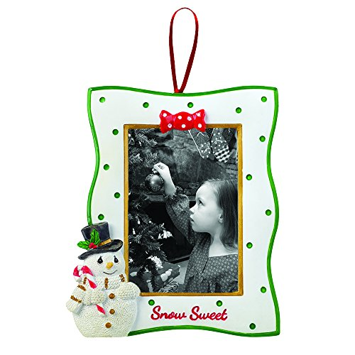 "Precious Moments, Christmas Gifts, ""Snowman Photo Frame with Easel Back"", Resin, #161418"