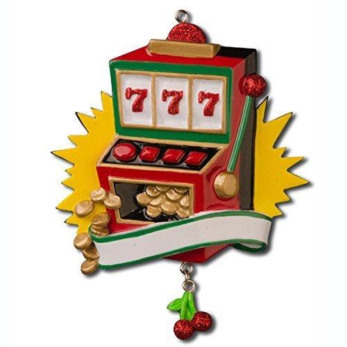 Casino Slot Machine Personalized Tree Ornament