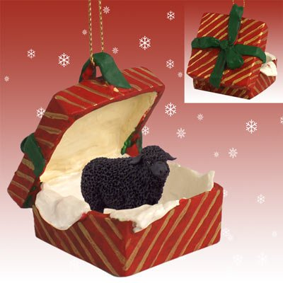 Black Sheep Christmas Ornament Red Gift Box by Conversation Concepts