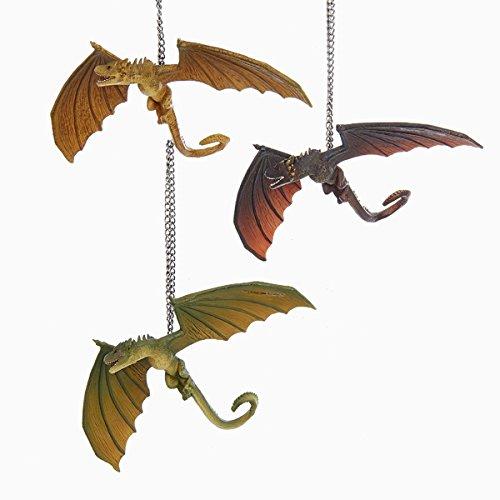 Kurt Adler 4″ Game OF Thrones Dragon Ornament 3/a