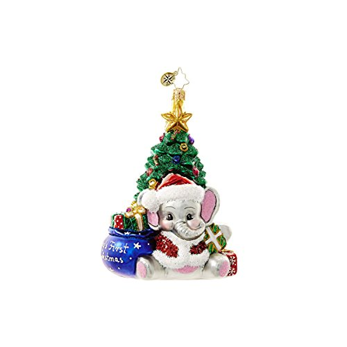 A Trunkful First Christmas Ornament by Christopher Radko