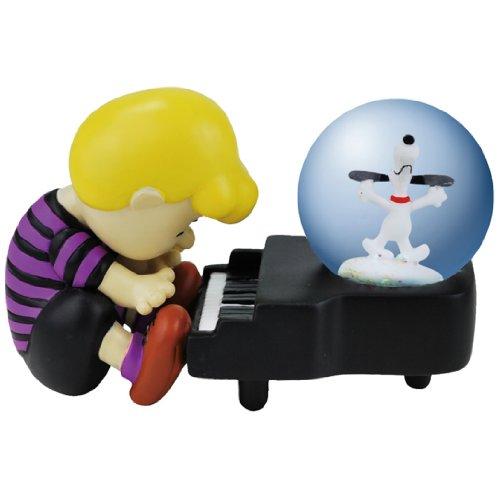 Westland Giftware Water Globe Figurine, 45mm, Peanuts Snoopy Piano Dance