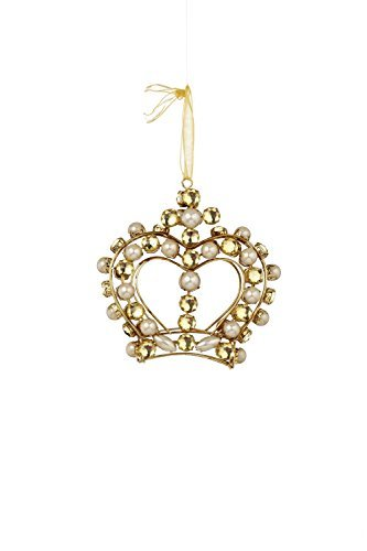 Sage & Co. XAO17316GD 5 Jeweled Crown Ornament by Sage & Co.
