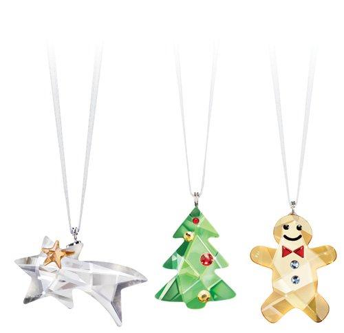 Swarovski Ornament Set (Comet, Tree, Gingerbread Man) Christmas – Crystal Authentic 1096022