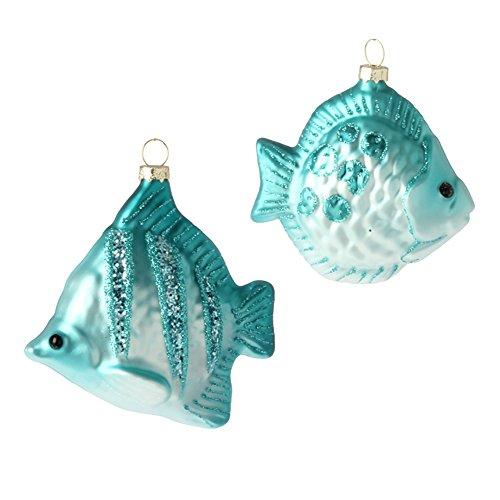 4 inch Glass Fish Ornament – Set of 2
