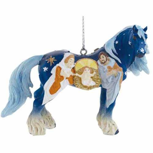 Horse Of A Different Color Nativity Pony Ornament