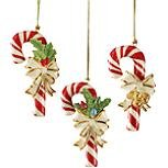 Lenox Christmas Candy Cane Ornaments Set of 3