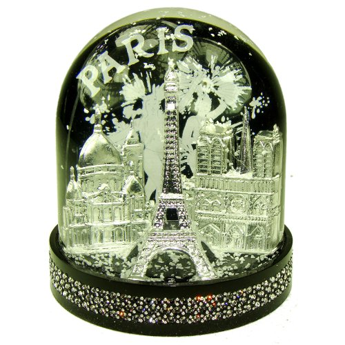 Souvenirs of France – Luxury Paris Snow Globe with Swarovski Crystal & Gift Bag