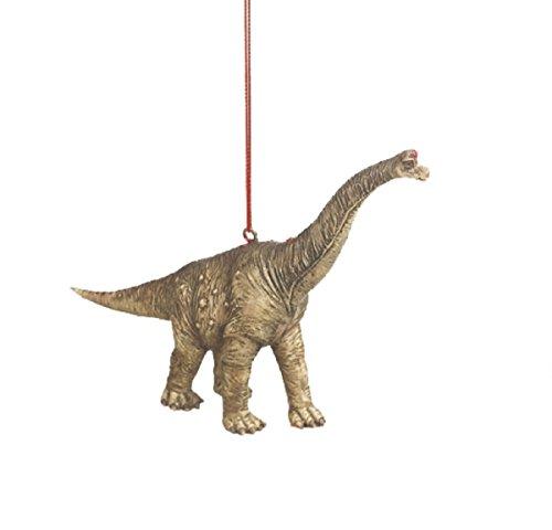 Brontosaurus Jurassic Dinosaur Resin Stone Christmas Tree Ornament