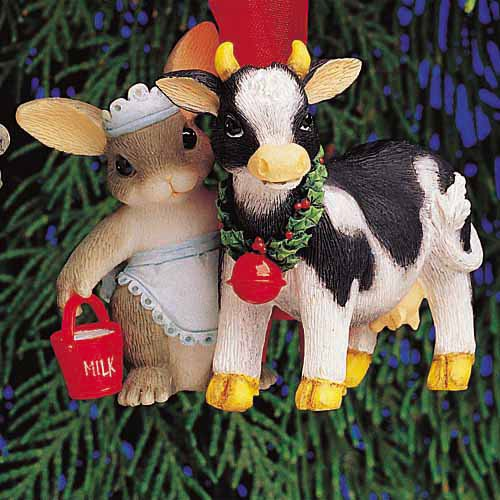 12 Days of Christmas Ornament #8 -Eight Maids-a-Milking