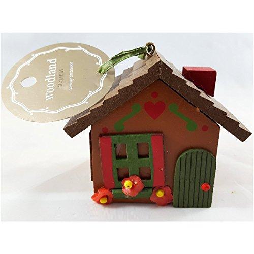 Martha Stewart Woodland Holiday Cottage Novelty Ornament Brown