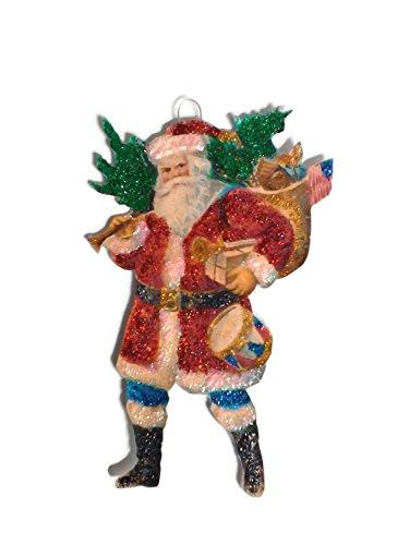 Christmas Tree Ornament Decoration Americana St Nicholas Santa Patriotic Flag