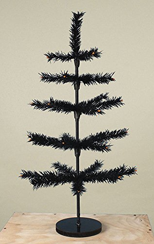 30″ Tall Artificial Halloween Ornament Tree Bethany Lowe New with wood base