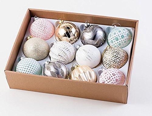 180 Degree Mercury Glass Christmas Balls, 3.5″ D, Set of 12