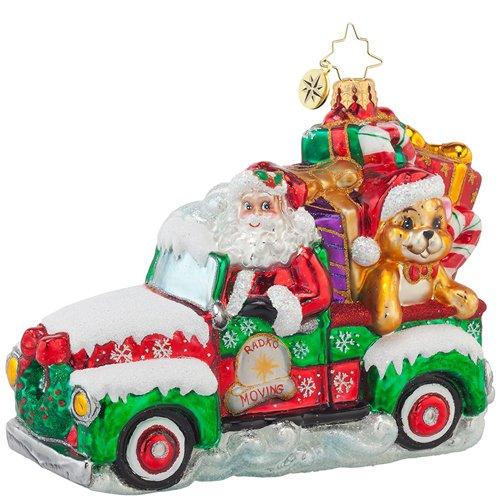 Christopher Radko Keep it Moving Nick Christmas Ornament