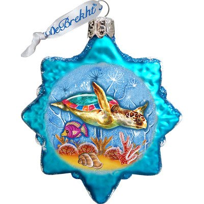 G. Debrekht Starfish Coastal Glass Ornament
