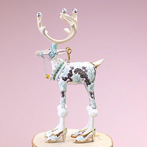 Patience Brewster Christmas Home Decor Moonbeam Mini Reindeer Ornament – Vixen