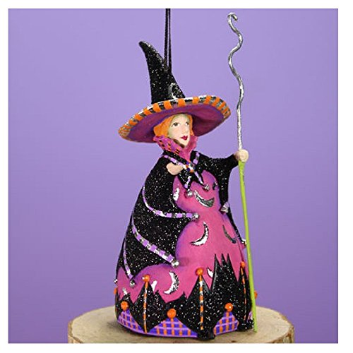 Patience Brewster Halloween Home Decor Mini Bat Moon Witch Ornament 31030