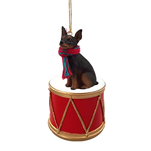 Miniature Pinscher Tan & Black Drum Ornament