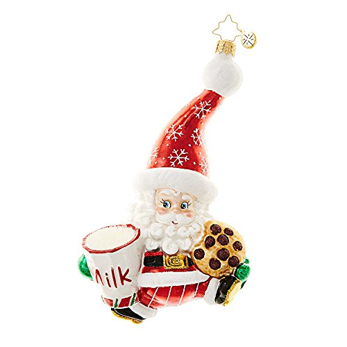 Christopher Radko Snack Time Santa Christmas Ornament