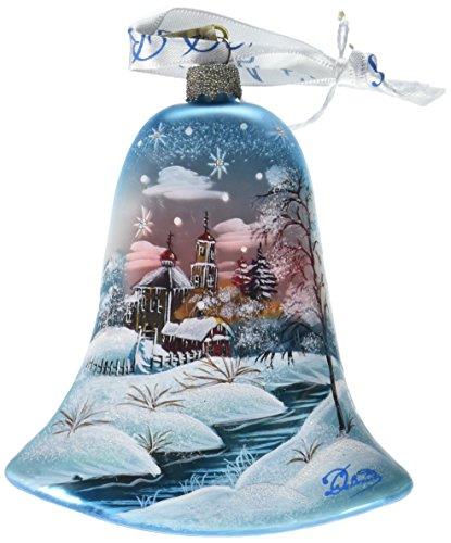 G. Debrekht Peaceful Kindgdom Bell Glass Ornament