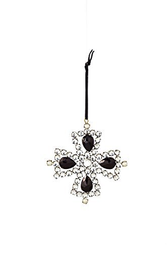 Sage & Co. XAO17049 4 Gem and Pearl Cross Ornament by Sage & Co.