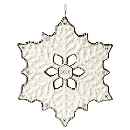 Snowflake Christmas Ornament Dated 2016 Hallmark Keepsake Ornament