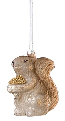 Christmas Squirrel with Acorn Basket Ornament GIFT BOXED